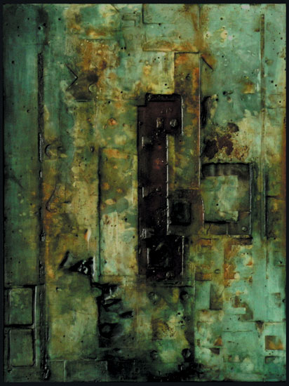 Tanya Bonello, Homage series, no 125, 600x450mm, gypsum and oil on board, 2004