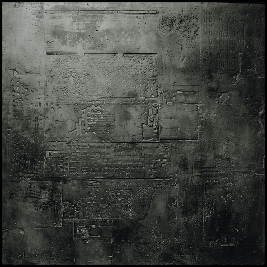 Tanya Bonello, Homage series,The Other side, 1000x1000mm, gypsum and oil on board, 2002